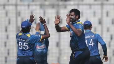 Thisara Perera's triple-strike lifted Sri Lanka