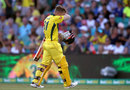 David Warner fell early in Australia's chase, Australia v England, 3rd ODI, Sydney, January 21, 2018