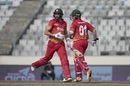 Brendan Taylor and Graeme Cremer run between the wickets, Sri Lanka v Zimbabwe, tri-series, Mirpur, January 21, 2018