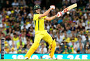 Just the one hand: Mitchell Marsh flays through the off side, Australia v England, 3rd ODI, Sydney, January 21, 2018