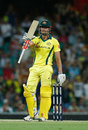 Marcus Stoinis made a 40-ball fifty to keep the chase alive, Australia v England, 3rd ODI, Sydney, January 21, 2018
