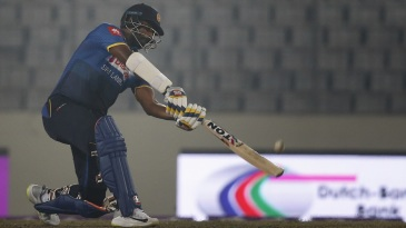 Thisara Perera carves one over the off side