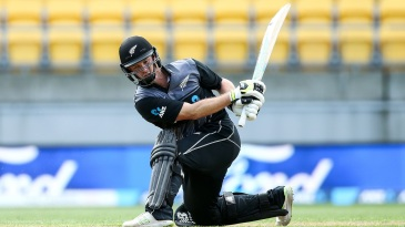 Colin Munro attempts a switch hit