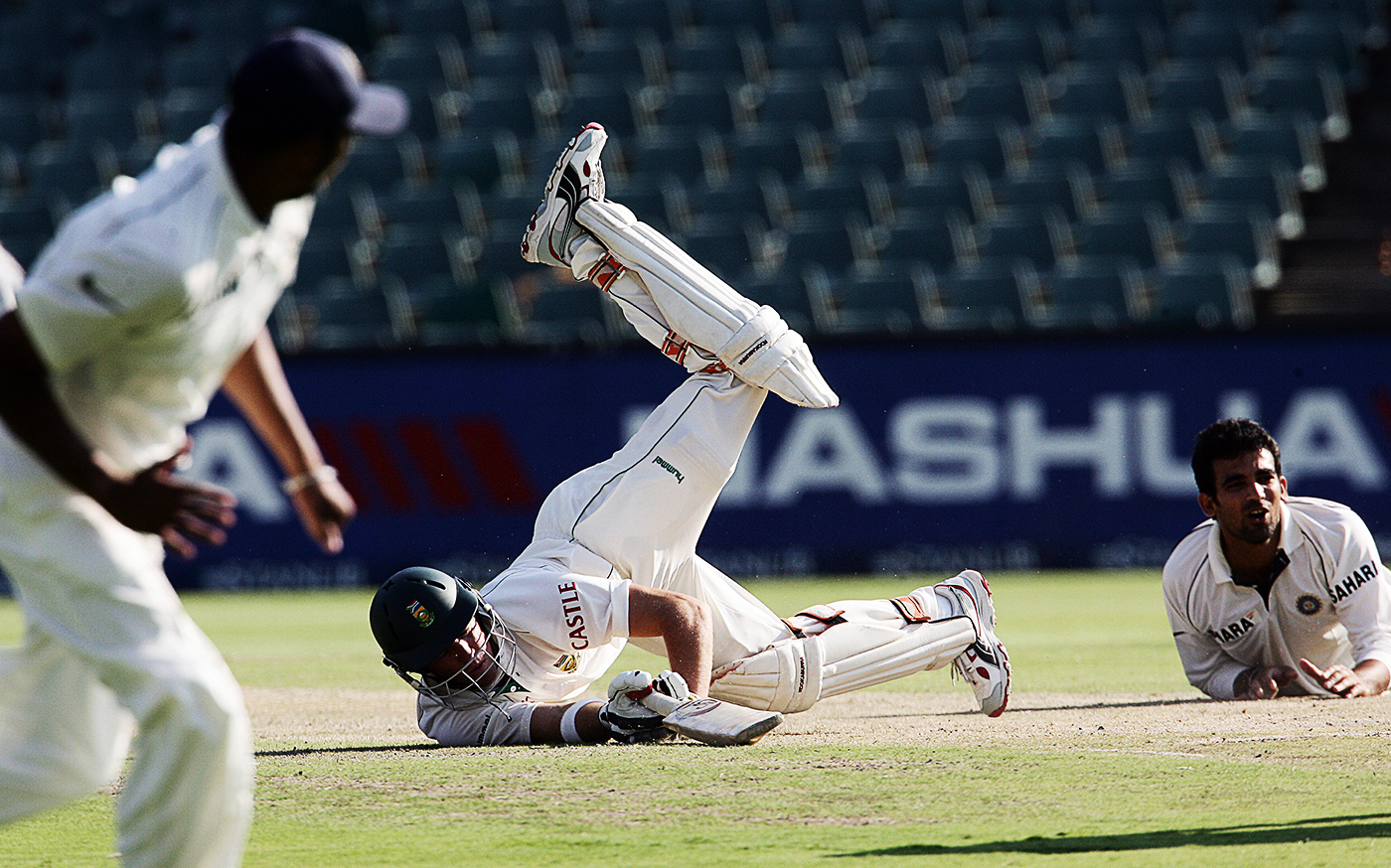 When AB de Villiers was run out by Zaheer Khan, South Africa had lost five wickets for 120 runs, chasing 402