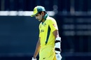 Jason Sangha walks back after scoring 58 off 91 balls, Australia v England, Under-19 World Cup, quarter-final, Queenstown, January 23, 2018