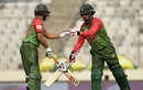 Tamim Iqbal and Shakib Al Hasan bump fists during their partnership, Bangladesh v Zimbabwe, Tri-nation series, Mirpur, January 23, 2018