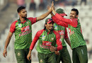 Mashrafe Mortaza celebrates a wicket, Bangladesh v Zimbabwe, Tri-nation series, Mirpur, January 23, 2018