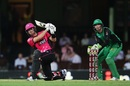 Joe Denly hammers a slog sweep, Sydney Sixers v Melbourne Stars, BBL 2017-18, Sydney, January 23, 2018