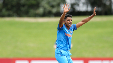 Shivam Mavi appeals for a wicket
