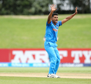 Shivam Mavi appeals for a wicket, India v Papua New Guinea, Under-19 World Cup, Tauranga, January 16, 2018