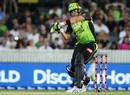 Shane Watson prepares to pull, Sydney Thunder v Melbourne Renegades, BBL 2017-18, Canberra, January 24, 2018