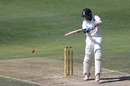 Cheteshwar Pujara stands tall to play a cut shot, South Africa v India, 3rd Test, Johannesburg, 1st day, January 24, 2018
