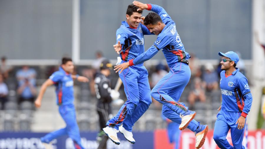 Mujeeb Zadran and Qais Ahmad took 8 wickets together. (Getty)
