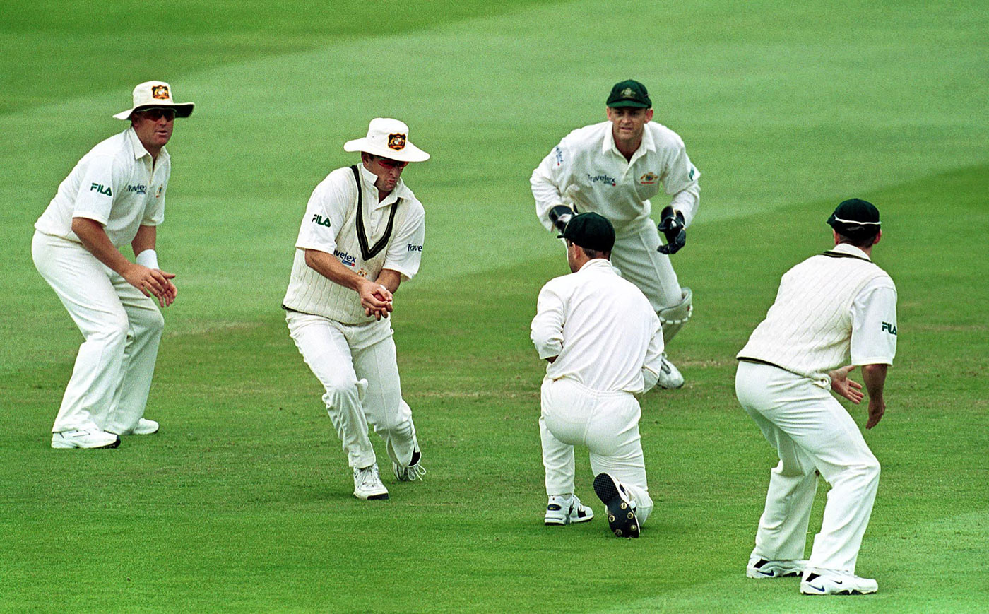 Master at work: Mark Waugh takes his 158th catch, at Lord's in 2001, setting a record for the time