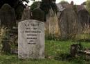 Albert Trott's grave in in Willesden Cemetery