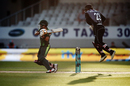 Babar Azam and Glenn Phillips ride the bounce in front of and behind the wicket, New Zealand v Pakistan, 2nd T20I, Auckland