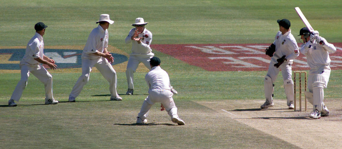 Cullinan does the honours at first slip, catching Phil Tufnell to end the match and series, in Cape Town in 2000