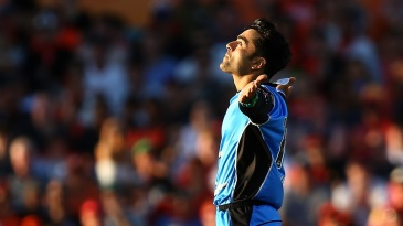 Rashid Khan celebrates another wicket in the Big Bash