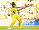 Mitchell Marsh clubbed quick runs to bring down the target, Australia v England, 4th ODI, Adelaide, January 26, 2018
