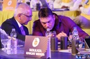 Kolkata Knight Riders' Jay Mehta and Jacques Kallis have a chat during the IPL auction, Bengaluru, January 27, 2018