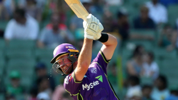 Daniel Christian launches one over the covers