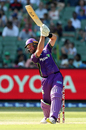 Daniel Christian launches one over the covers, Stars v Hurricanes, Big Bash League, Melbourne, January 27, 2018