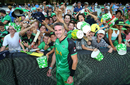 Melbourne Stars fans cheer Kevin Pietersen after his last match in the BBL, Stars v Hurricanes, Big Bash League, Melbourne, January 27, 2018