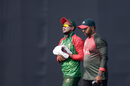 Shakib Al Hasan went off the field after injuring his hand while diving, Bangladesh v Sri Lanka, Tri-Nation Series, final, Mirpur, January 27, 2018