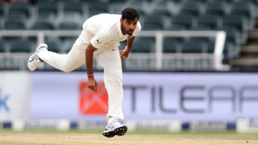 Bhuvneshwar Kumar in his follow through