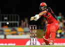 Matthew Short flat-bats through the off side, Heat v Renegades, Big Bash League, Brisbane, January 27, 2018