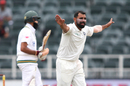 Mohammed Shami appeals for a wicket, South Africa v India, 3rd Test, Johannesburg, 4th day, January 27, 2018