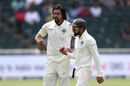 Virat Kohli has a chat with Ishant Sharma, South Africa v India, 3rd Test, Johannesburg, 4th day, January 27, 2018