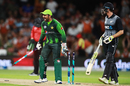 Sarfraz Ahmed rejoices after snaring an 18-run win over New Zealand, Pakistan v New Zealand, 3rd T20I, Mount Maunganui, January 28, 2018