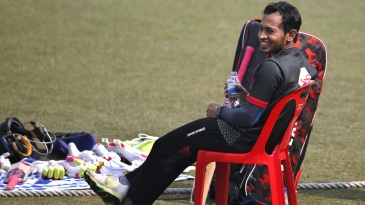 Mushfiqur Rahim finds a reason to smile at training
