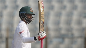 Tamim Iqbal brought up his 25th Test half-century