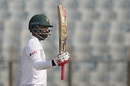 Tamim Iqbal brought up his 25th Test half-century, Bangladesh v Sri Lanka, 1st Test, Chittagong, 1st day, January 31, 2018