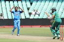 Bhuvneshwar Kumar bowled excellent lines with the new ball, South Africa v India, 1st ODI, Durban, February 1, 2018
