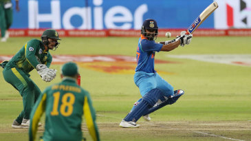 Ajinkya Rahane plays a cut
