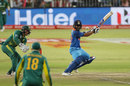 Ajinkya Rahane plays a cut, South Africa v India, 1st ODI, Durban, February 1, 2018
