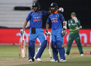 Virat Kohli and Ajinkya Rahane added 189 for the third wicket, South Africa v India, 1st ODI, Durban, February 1, 2018