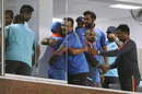 Virat Kohli and Ravi Shastri embrace in the dressing room, South Africa v India, 1st ODI, Durban, February 1, 2018