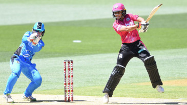 Ashleigh Gardner goes on her toes during her vital half-century