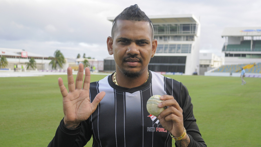 Sunil Narine finished with 5 for 10