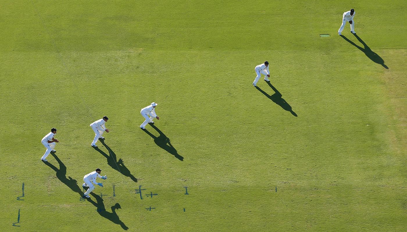 The England slips cordon
