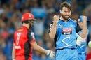 Michael Neser celebrates Cameron White's wicket, Adelaide Strikers v Melbourne Renegades, BBL 2017-18, Adelaide, February 2, 2018