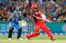 Tim Ludeman tonks the ball towards the leg side, Adelaide Strikers v Melbourne Renegades, BBL 2017-18, Adelaide, February 2, 2018