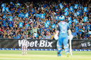 The Adelaide crowd salute a Travis Head six, Adelaide Strikers v Melbourne Renegades, BBL 2017-18, Adelaide, February 2, 2018