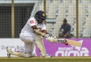Rangana Herath lunges to sweep one, Bangladesh v Sri Lanka, 1st Test, Chittagong, 4th day, February 3, 2018