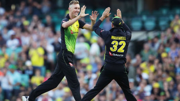 Billy Stanlake struck with each of his first two balls