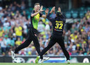 Billy Stanlake struck with each of his first two balls, Australia v New Zealand, Trans-Tasman T20, Sydney, February 3, 2018